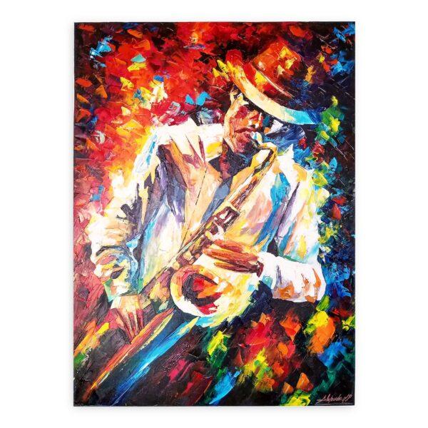 Cuadro Saxofonista
