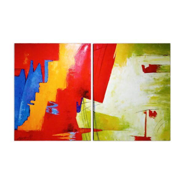 Cuadro Díptico Abstracto