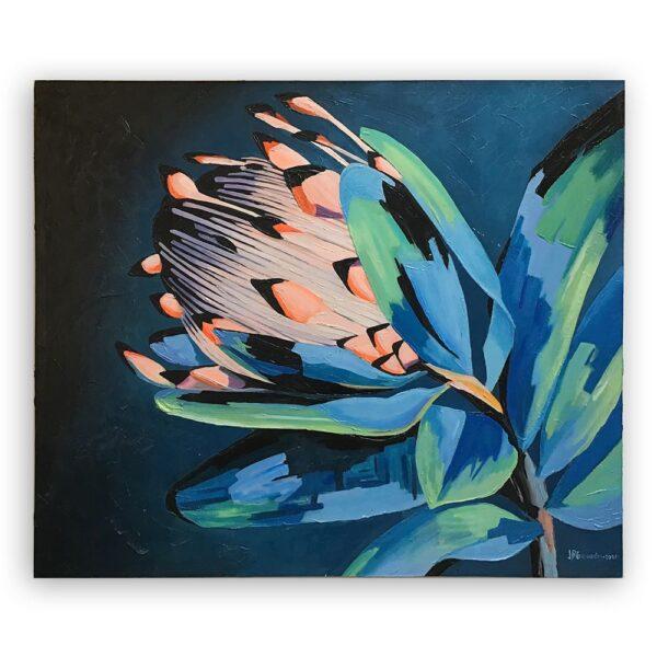 Cuadro Flor Azul