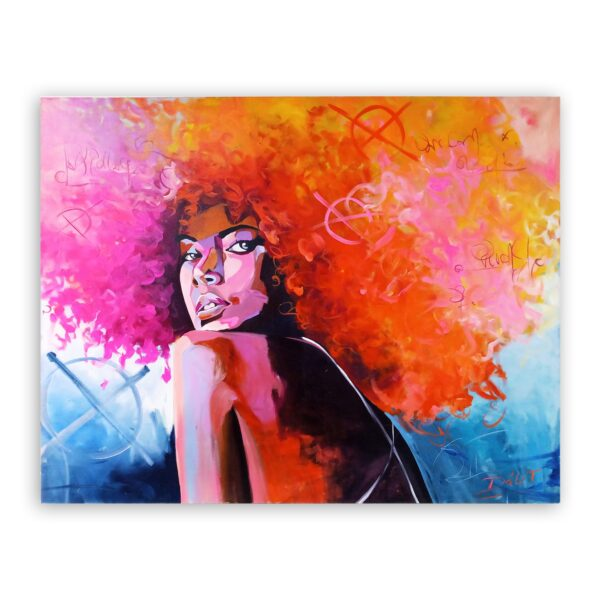 Cuadro Mujer Afro 1