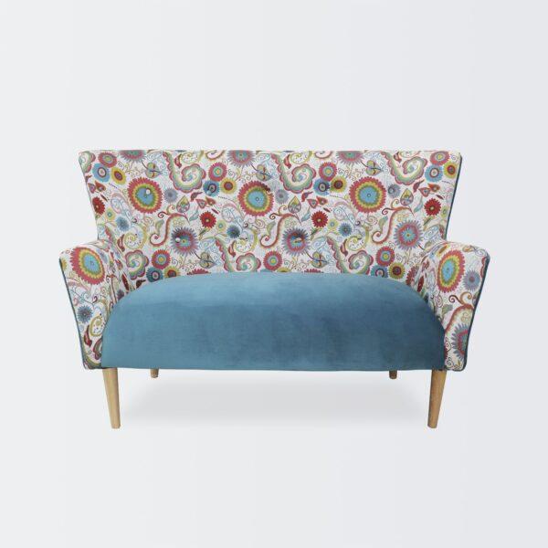 Sofá Doble Mitchelli Estampado Azul